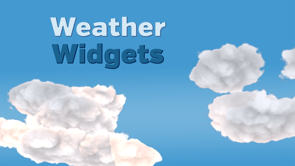Weather Widget for Website & Blog - Best Blog Widgets For