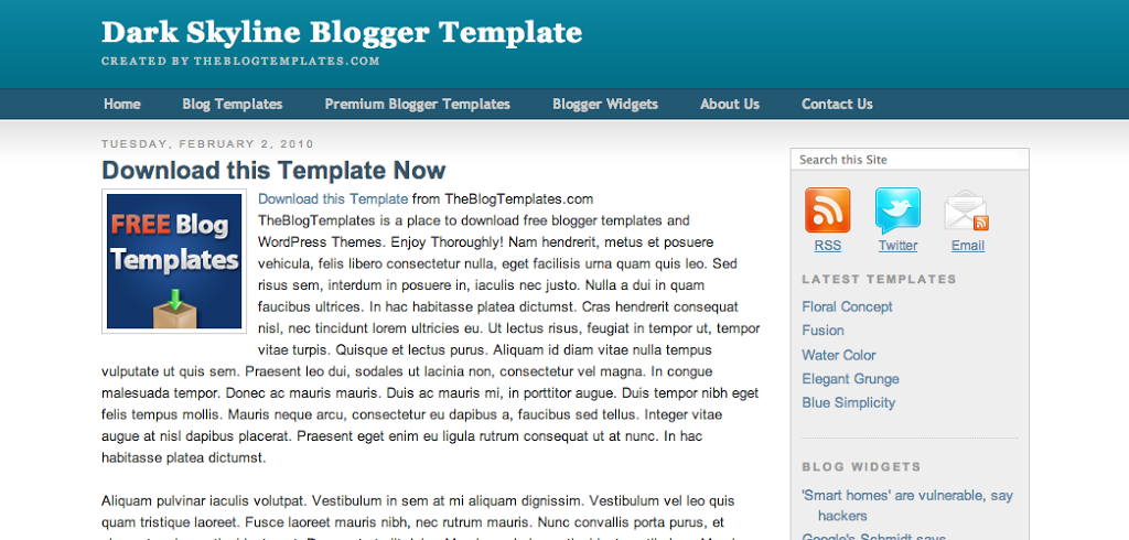 Dark-Skyline-Blogger-Template