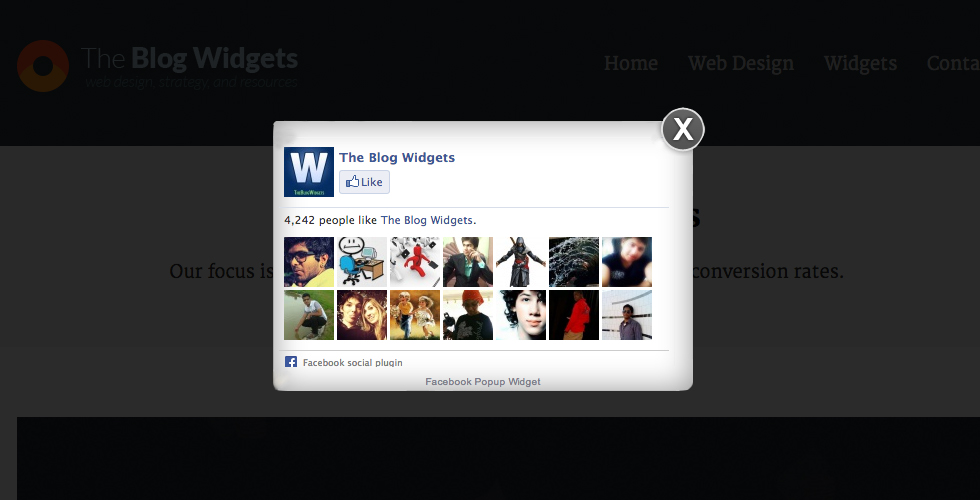 Facebook Popup (Like Box Widget) For Your Website - Best